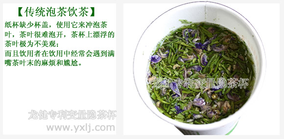 变量隐茶杯饮茶与传统泡茶饮茶的对比效果